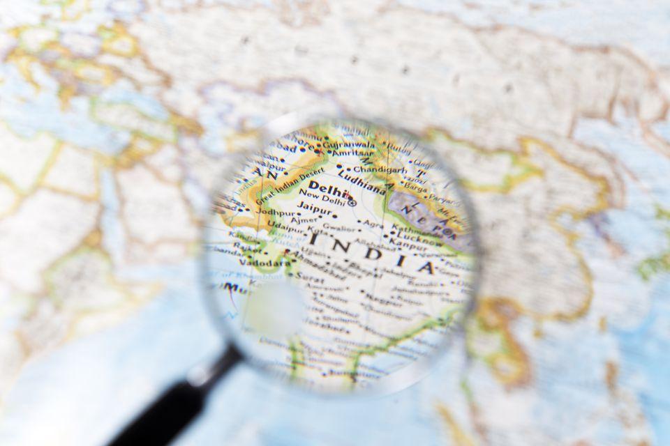India map.