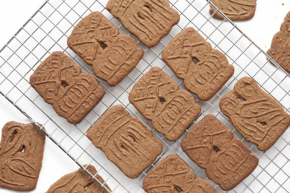 Homemade dutch speculaas cookies