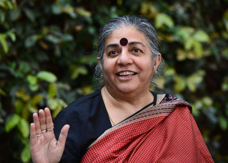 Vandana Shiva, lideresa ecofeminista.