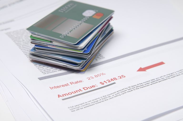 Pile of Credit Cards, High Rate