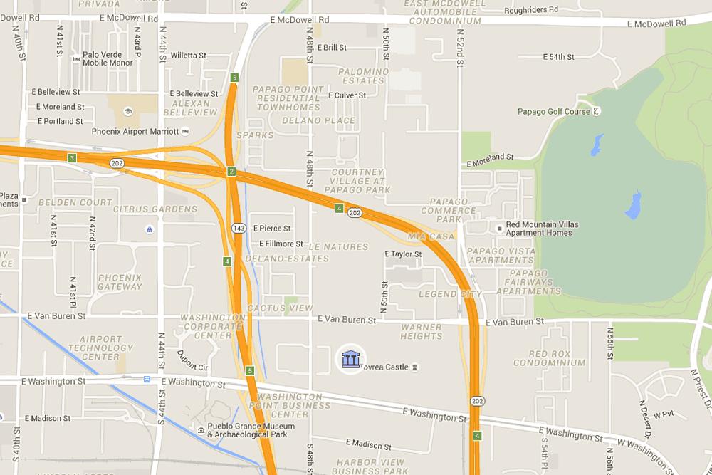 Phoenix Airport PHX Map Address And Directions - Phoenix us map
