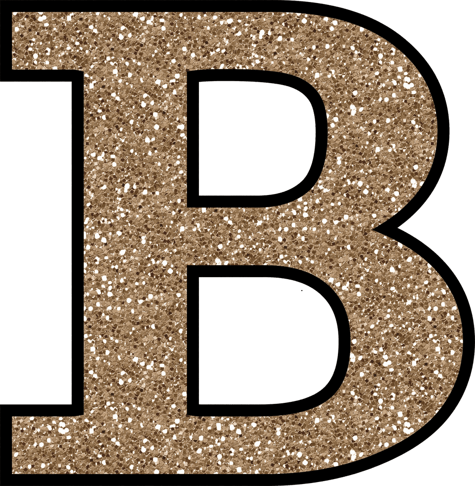 Free glitter alphabet to download and print for Large b letter