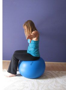 exercise ball stretch
