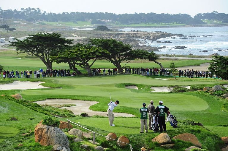 A scenic on the 11th tee during round one of the AT&T Pebble Beach National Pro-Am at Monterey Peninsula Country Club Shore Course