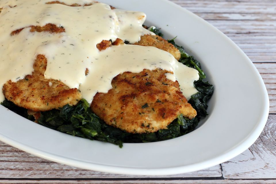Chicken Cutlets With Havarti Cheese Sauce