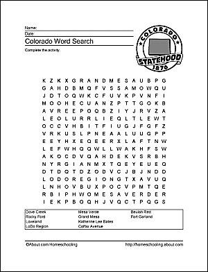Colorado Wordsearch