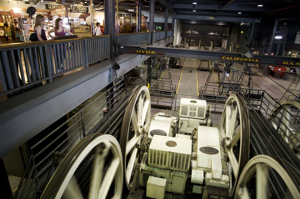 Inside the Cable Car Museum.