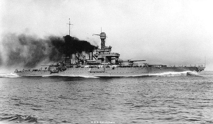 USS California (BB-44), after World War I