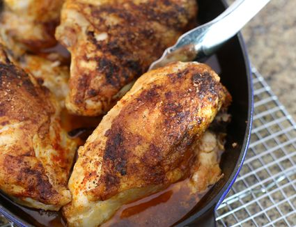Southern oven fried chicken recipe super easy baked chicken with sweet onions 100 mins ratings southern food forumfinder Images