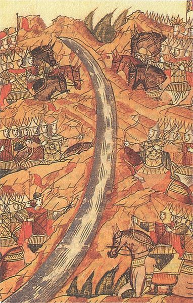 Genghis Khan's grandson ruled the Golden Horde, which controlled Russia and parts of E. Europe