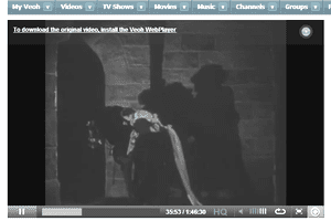 Screenshot of the movie The Phantom of the Opera on Veoh
