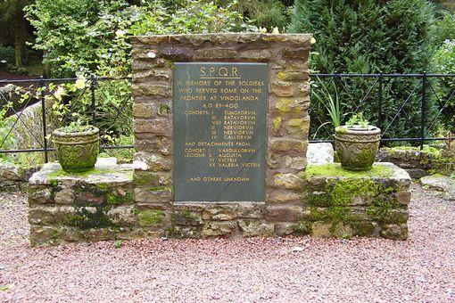 SPQR memorial at Vindolanda
