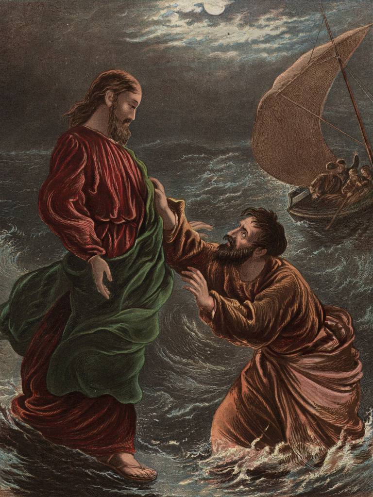 Peter the Apostle Walks on Water