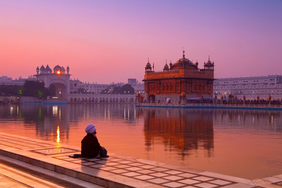 Golden Temple in Amritsar at dawn.