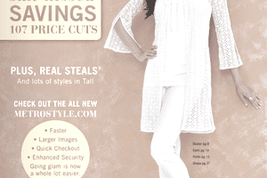 Screenshot of a Metrostyle online catalog