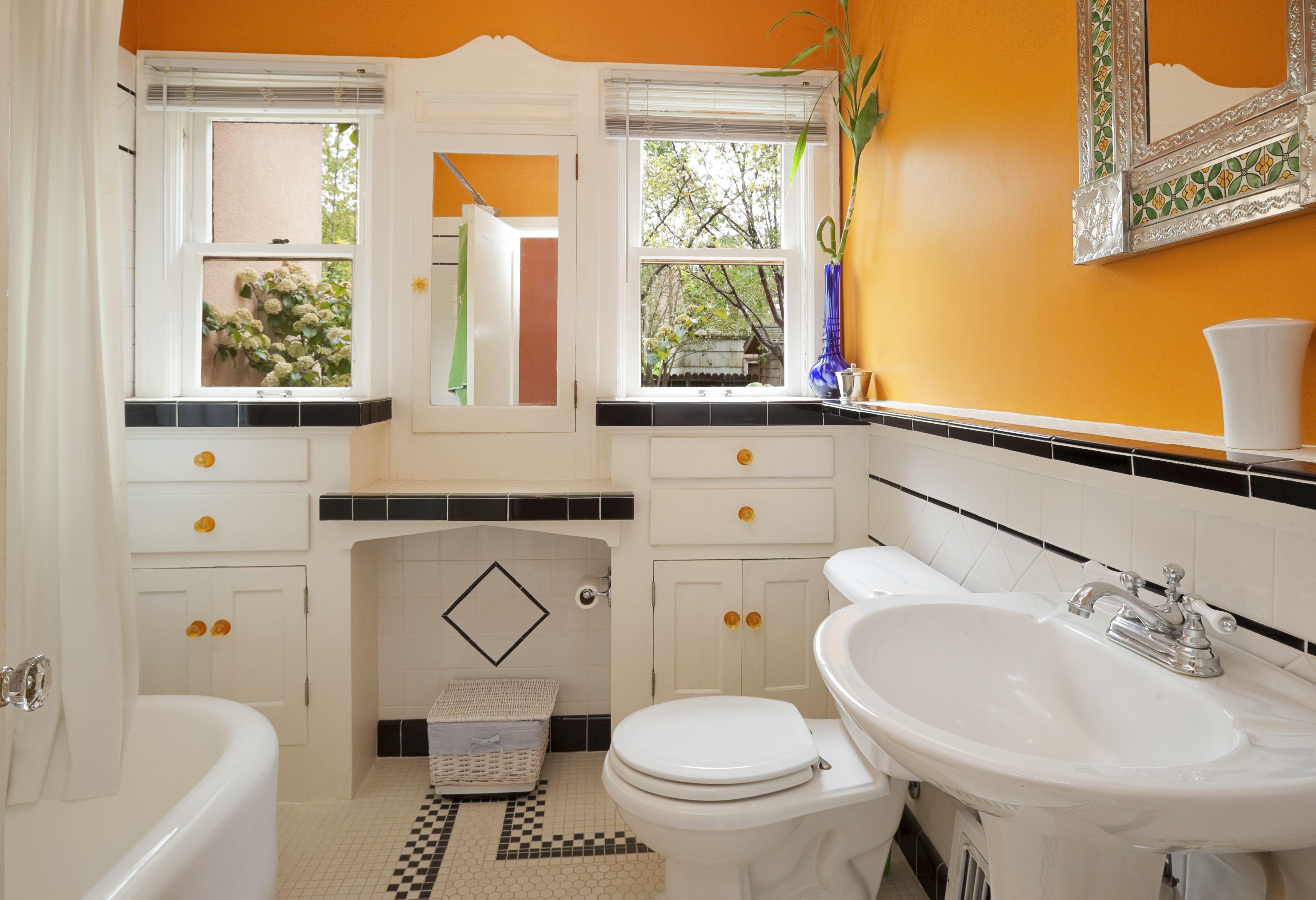 bright orange and white colorful modern bathroom cd03df78cc2e8f54e33