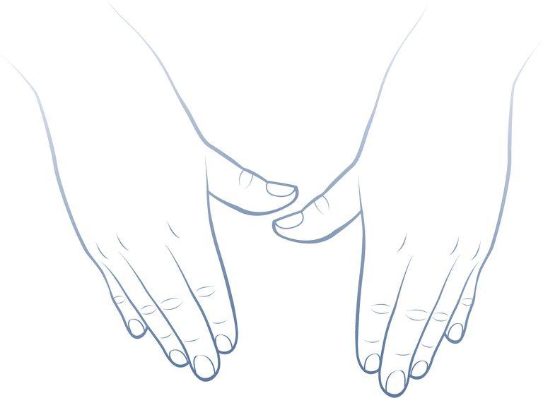 Massaging hands drawing
