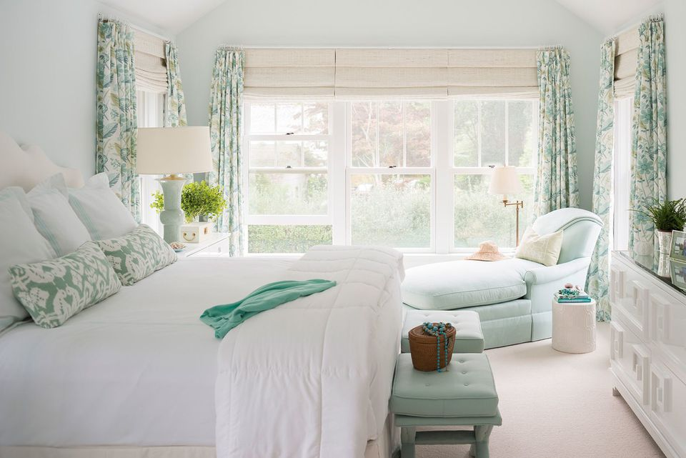100 stunning master bedroom design ideas and photos for White and green bedroom designs