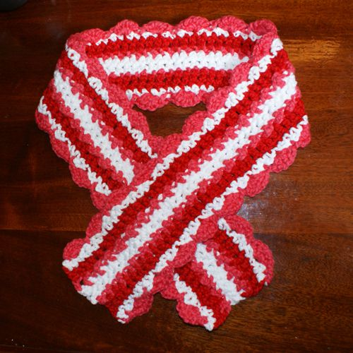 valentine scarf pattern