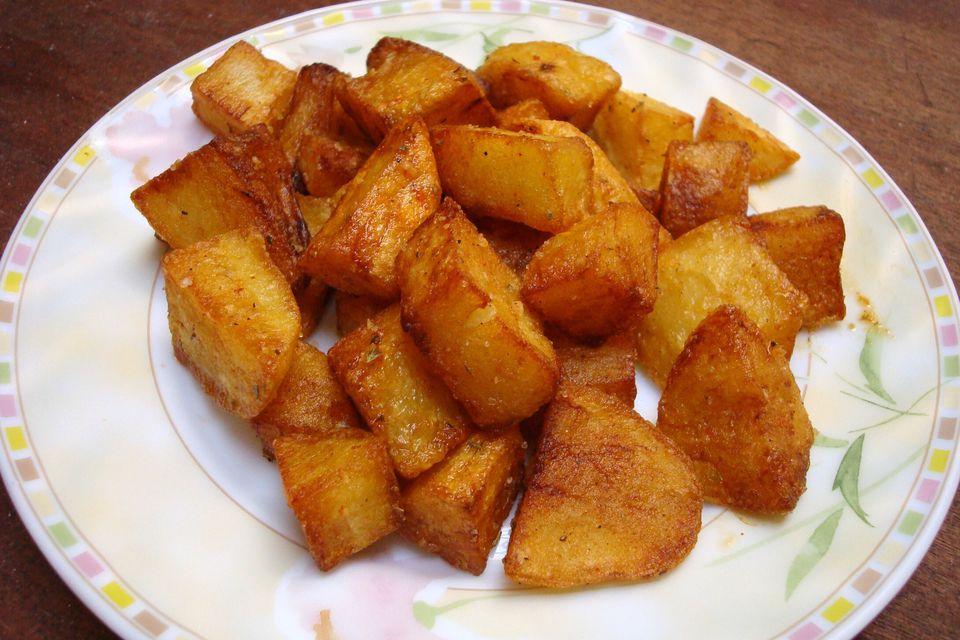 Deep-Fried Cubed Potatoes