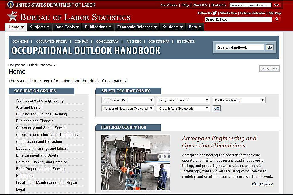 occupational outlook handbook 2018