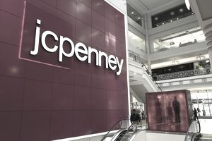 JC Penney logo at store entrance