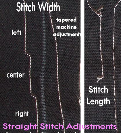 How to make sewing machine adjustments to your straight stitch