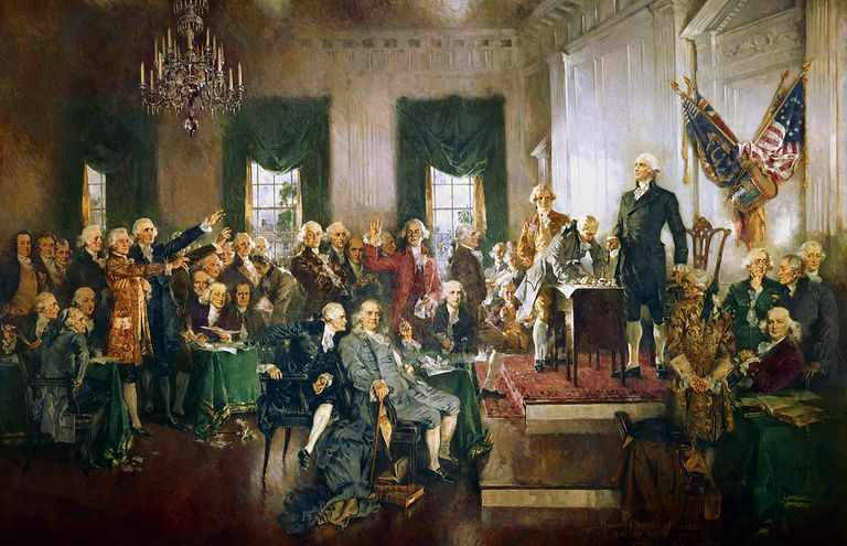 "Howard Chandler Christy's ""Signing of US Constitution"""
