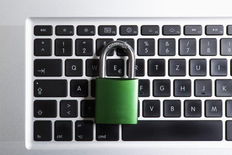 keyboard with padlock
