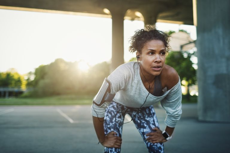 Woman wheezing after exercise