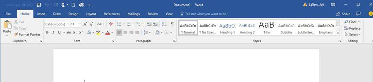 A screen shot of the Microsoft Word Ribbon.