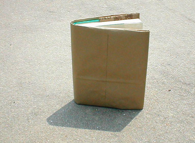 Making a Paper-Bag Book Cover - Step 10 - Ta Da! All Done!