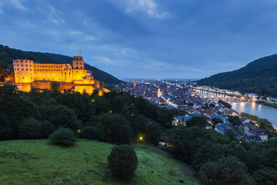 Heidelberg Castle at night