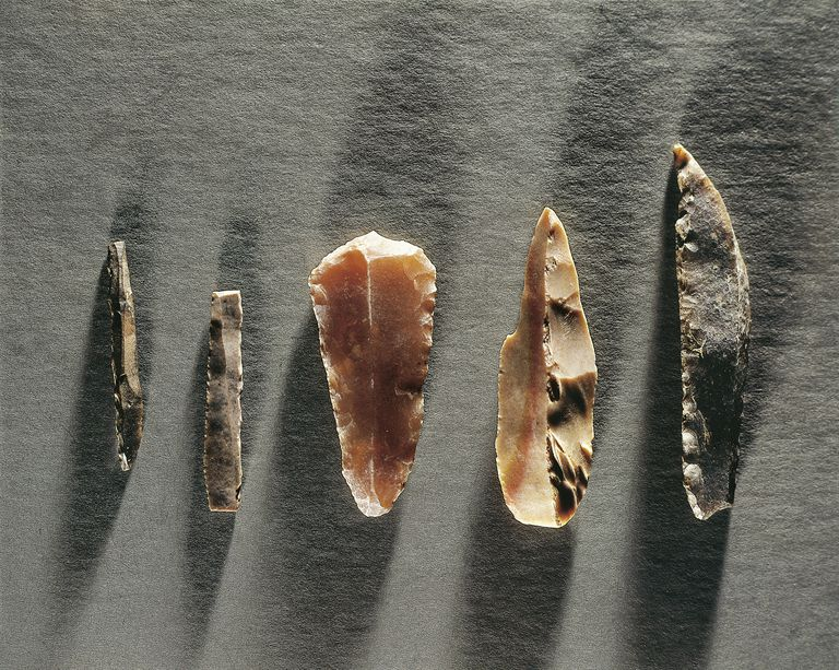 Upper Paleolithic Stone Tools from France: gimlet (drill); blade; scraper; burin; scraper
