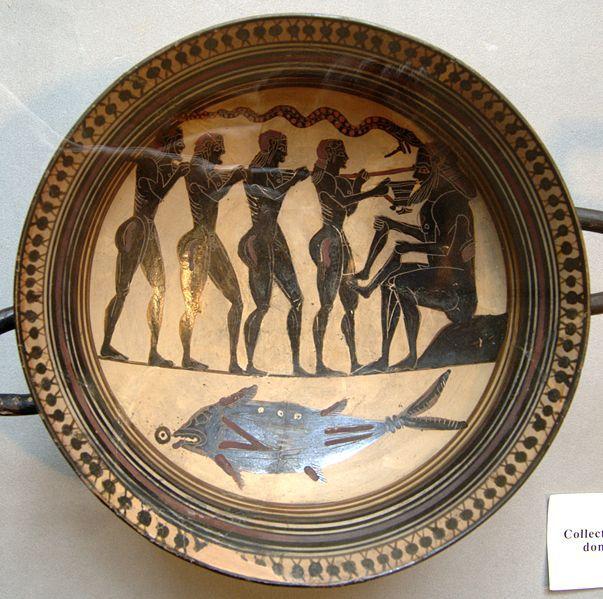 Odysseus and His Men Poke Out the Eye of Polyphemus