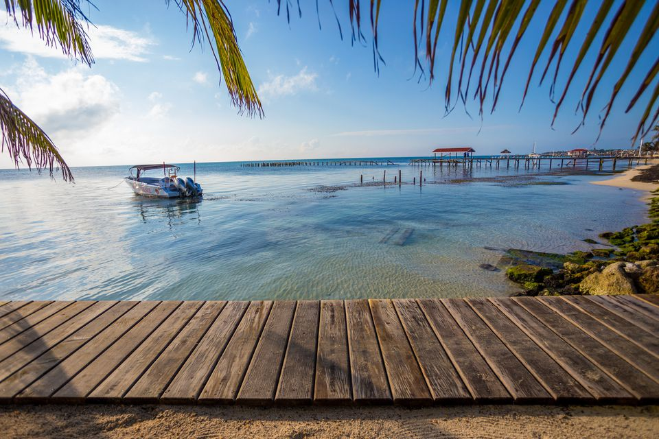 Picturesque beachfront scene with transparent waters
