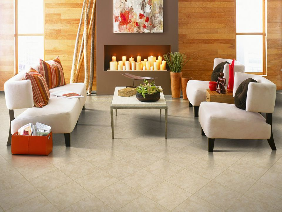 Ceramic Floor Tile In Living Rooms and Family Spaces