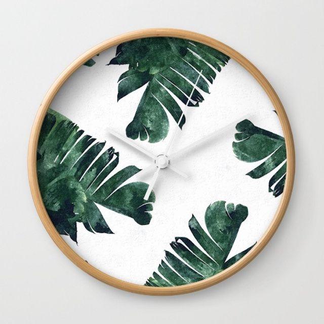 Banana leaf clock