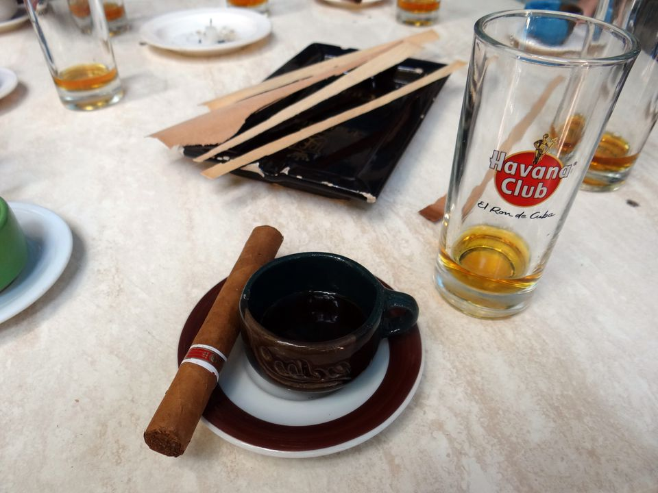 The trinity of Cuba--cigars, coffee, and rum