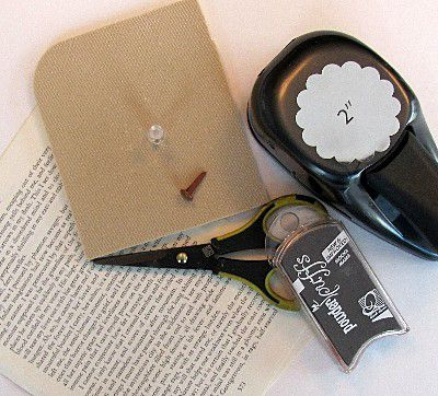 Supplies Needed for Making Vintage Book Page Flowers