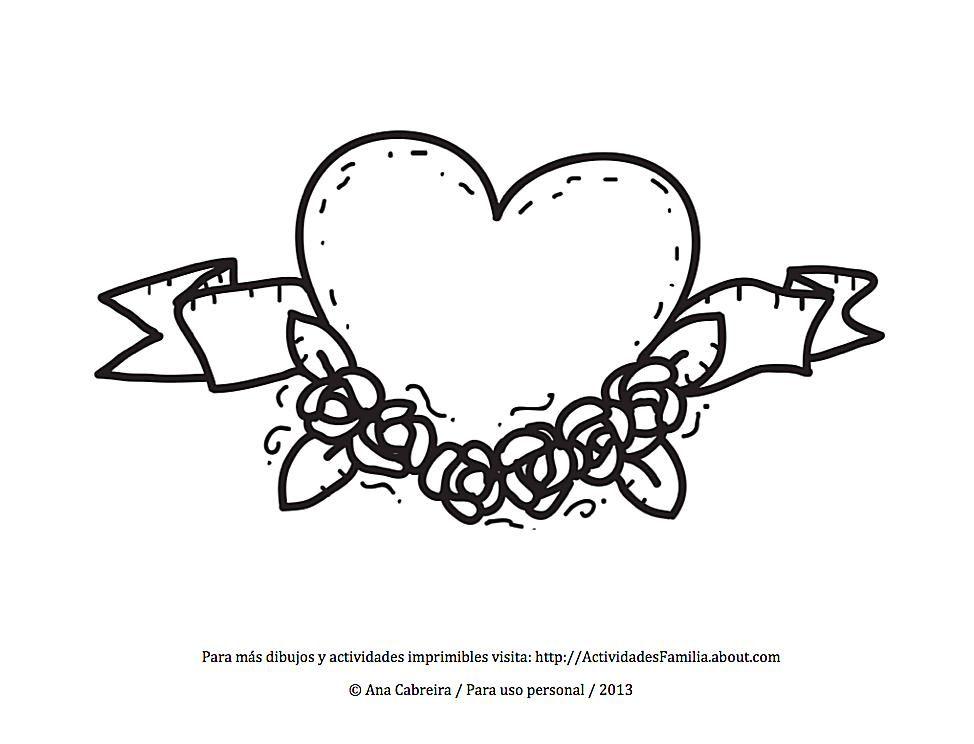Vistoso I Bigote Corazón Para Colorear Componente - Dibujos Para ...