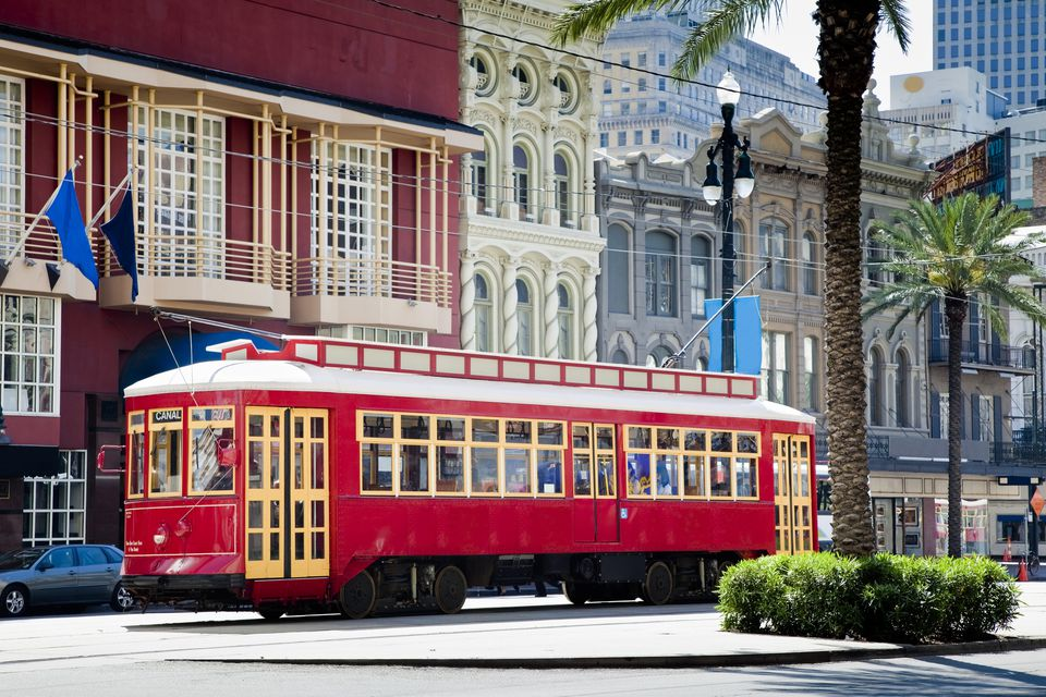 A streetcar in New Orleans.