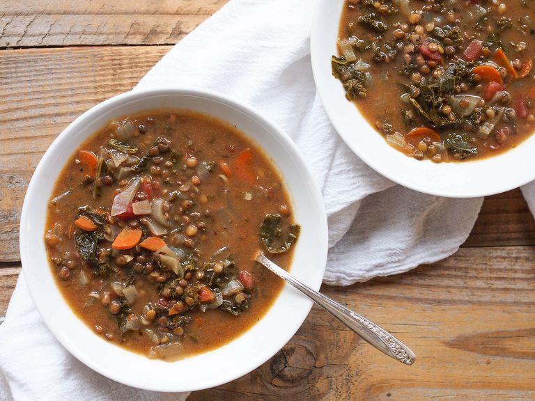 Vegan Red Curry Lentil Soup