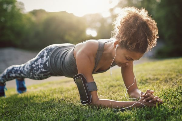 Woman doing plank