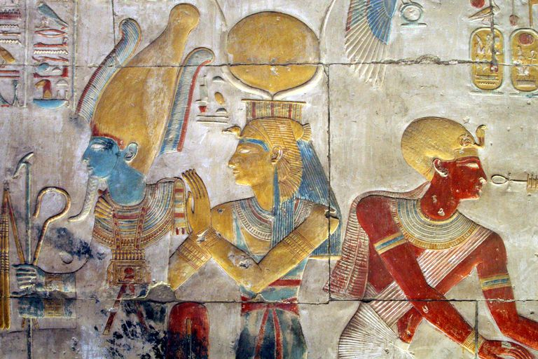 Osiris and Isis, The Great Temple of Seti I, Abydos
