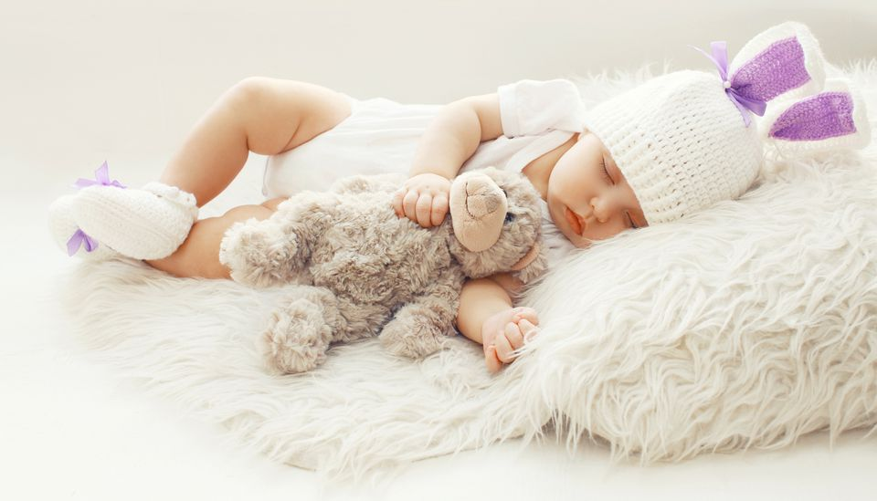 Baby in crochet hat