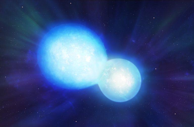 Artwork of Colliding Neutron Stars