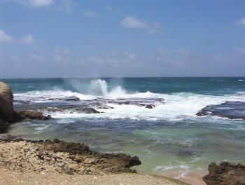 Barbaros, Caribbean island photos, north coast. Photo © Teresa Plowright.