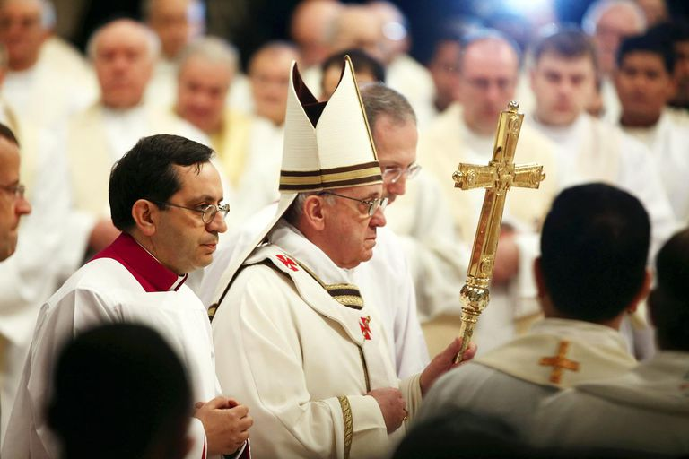Pope Francis Leads Chrism Mass in the Vatican Basilica