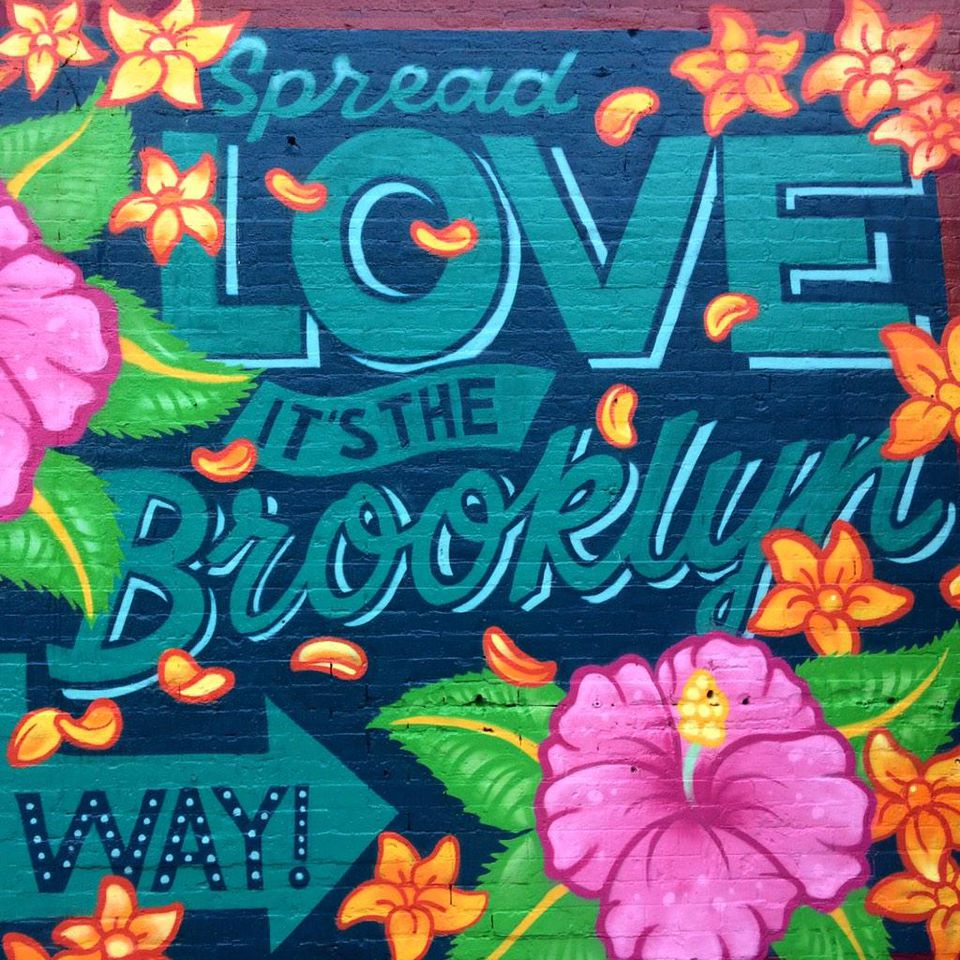 Mural, Spread Love It's The Brooklyn Way